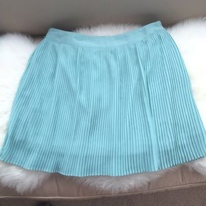 Mint Color Forever 21 Pleated Skirt